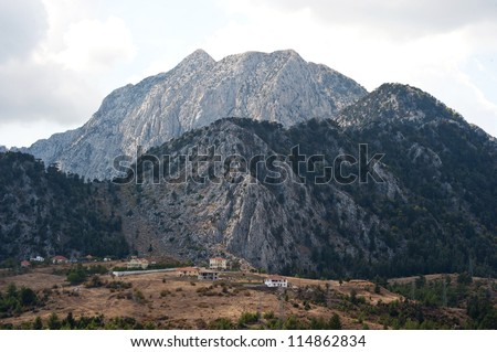 A beautiful landscape in mountains. Turkey. - stock photo