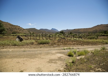 A beautiful landscape in Nieu-Bethesda, South Africa