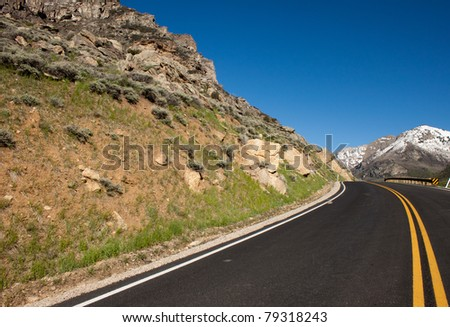 A beautiful photograph of a road running through Lamoille Canyon Nevada.