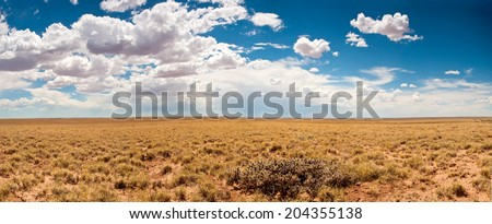 A beautiful sky sits over farmland  in Arizona. - stock photo