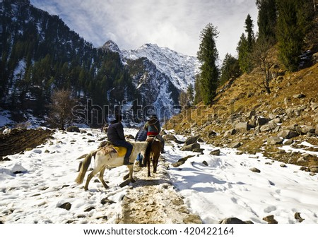 A beautiful solong valley - stock photo