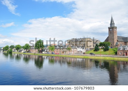 A beautiful sunny day at Inverness River, Scotland