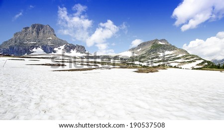 A Beautiful Valley at Glacier National Park - stock photo