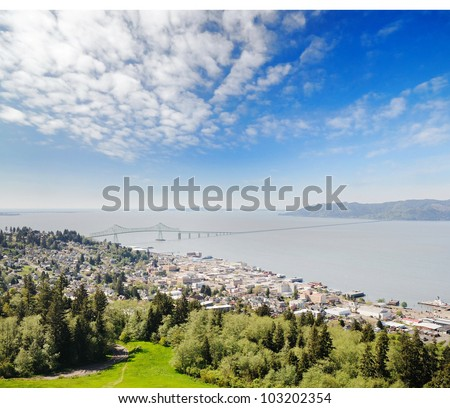 A beautiful view from astoria column - stock photo