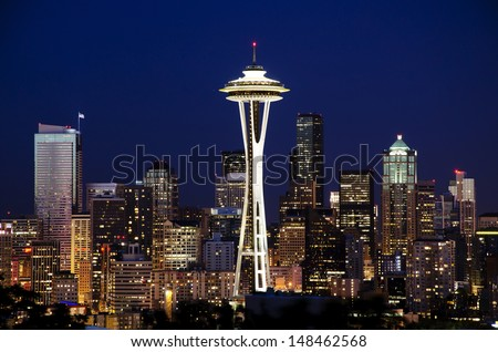 A beautiful view from kerry park - stock photo