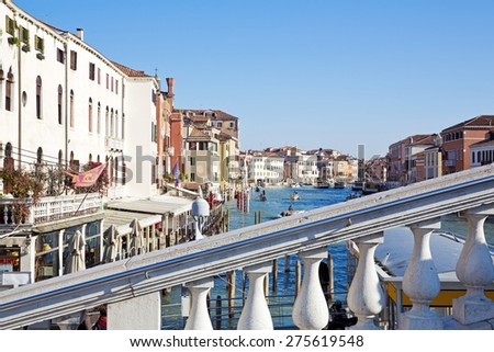 A beautiful view of a Grand Canal in Venice, Italy - stock photo