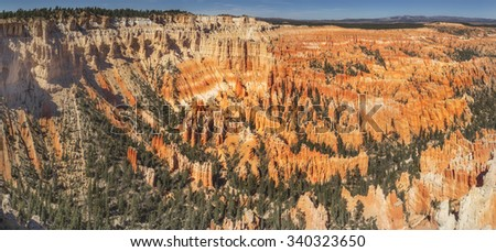 A beautiful view of Bryce Canyon National Park from Bryce Point - stock photo