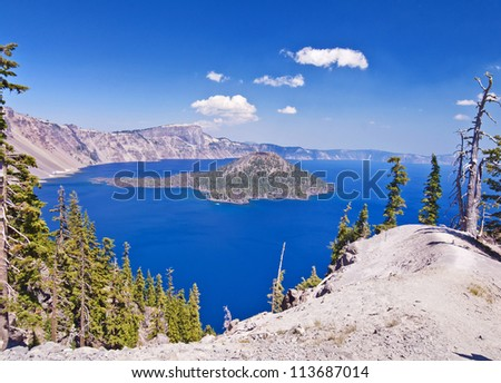A beautiful view of crater lake