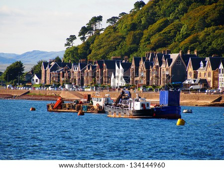A beautiful view of the bay at Oban, Scotland - stock photo