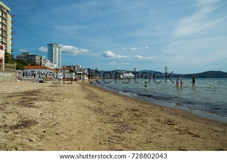a beautiful view of the follonica beach