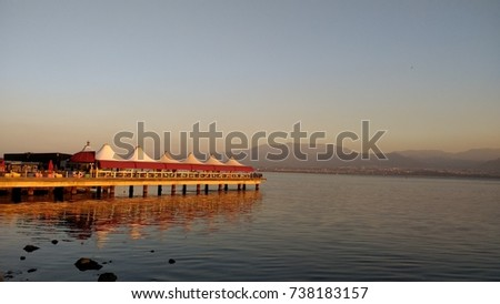 A Beautiful View of the Pier on the Beach