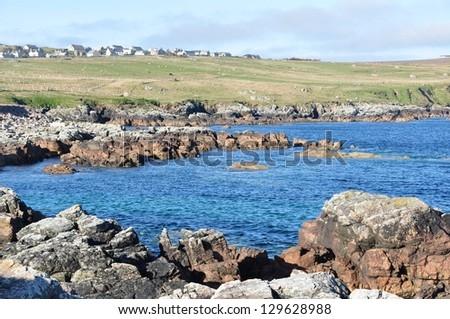 A beautiful view of the shore in Lewis, Scotland