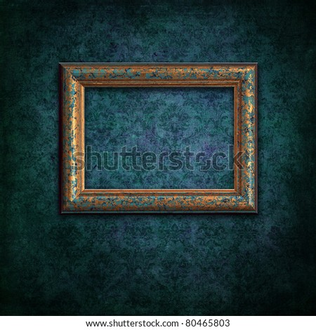 a beautiful vintage frame on grunge background