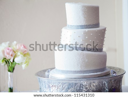 A beautiful wedding cake - stock photo