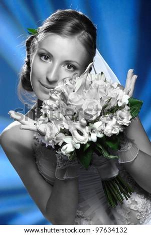 A beautiful woman at wedding - stock photo