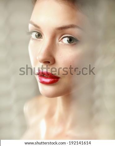 A beautiful woman, portrait - stock photo