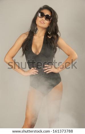 Sexy Woman Swimsuit Sunglasses Stock Photo 102206890 ... - photo #31