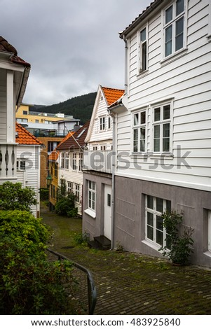 A beautifull old streets of Bergen