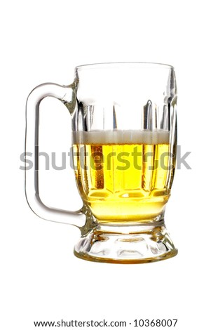 A beer mug isolated on white background