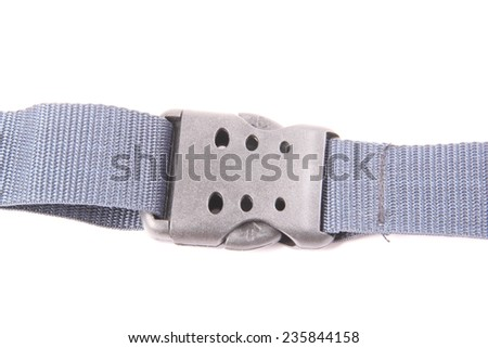 A belt to tie suitcases isolated on a white background - stock photo