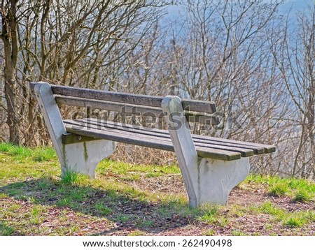 A bench. - stock photo