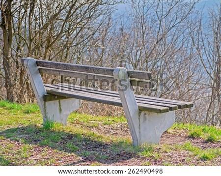A bench. - stock photo