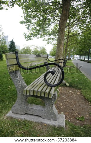 A bench in the park near Vancouver,Canada.