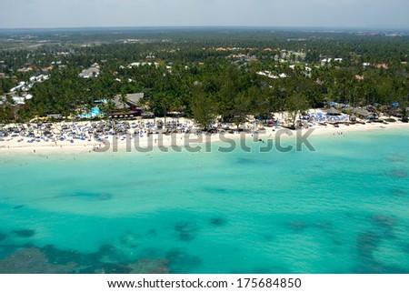A beutiful beach in the caribbean - stock photo