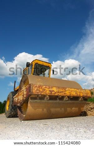 A big barrel for constructions - stock photo