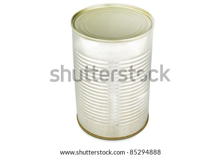 a big can for aliment - stock photo