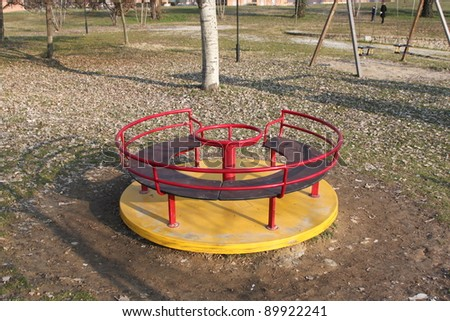 A big colorful children playground equipment. - stock photo