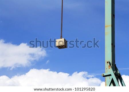 A big crane in a cloudy day - stock photo