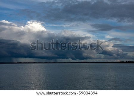A big powerful storm clouds