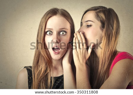 A big secret - stock photo