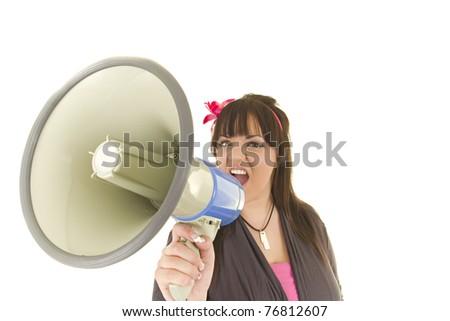 A Big Shout Out - hear me roar - stock photo