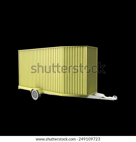 Big Trailer Walls Cage On Black Stock Illustration 249109723 ...