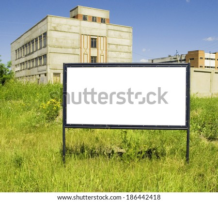a billboard just add your text or image - stock photo