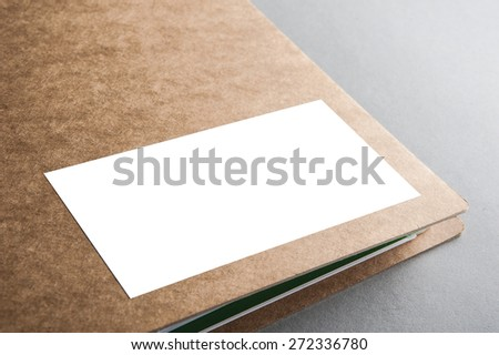 A binder folder cover - ready for your design artwork - clipping path included - stock photo