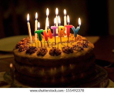 Pictures Of Birthday Cakes With Candles Lit : 30 Birthday Stock Images, Royalty-Free Images & Vectors ...