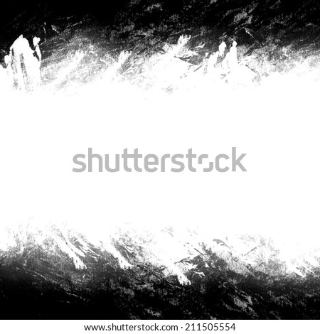 A black and white grunge frame - stock photo