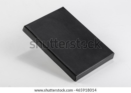 a black box on a white background