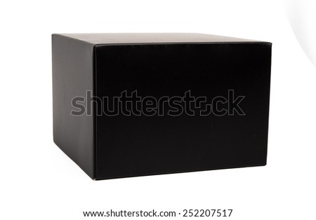 A black box on white background