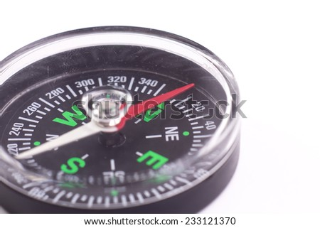 A black Compass isolate on white background
