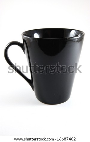 A black Cup isolated on a white background.