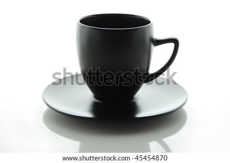 A black Cup isolated on a white background