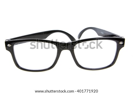 A black plastic full circle eyewear on the white background