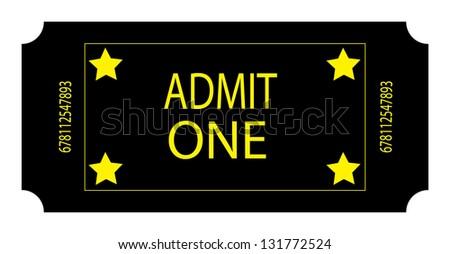 A Black Ticket - stock photo