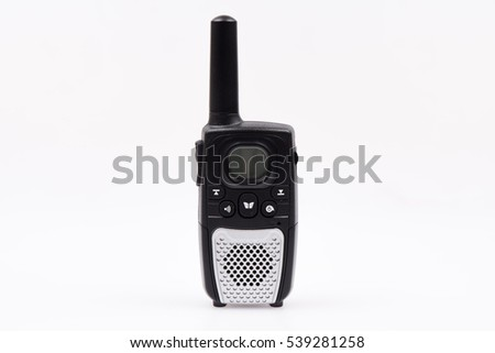 a Black transceiver on a White background