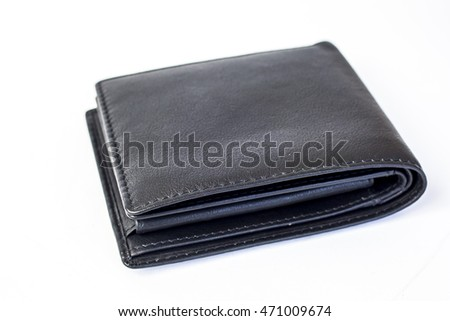 A Black wallet isolated on white background
