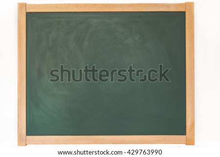 a blackboard with wooden frame - stock photo